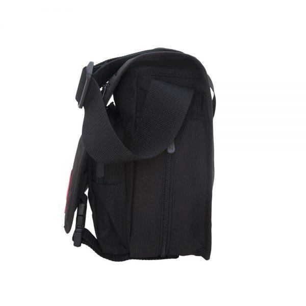 1435Z-C 可擴充式雙壓扣肩背包(S) 黑