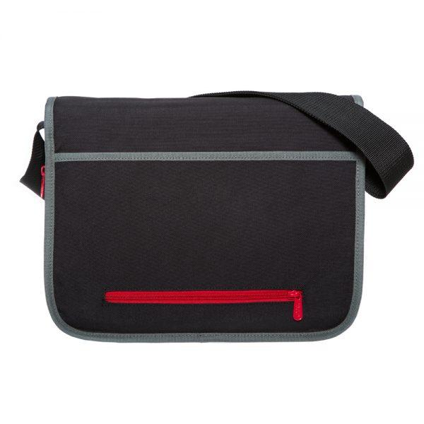 1439 80s可擴充式雙壓扣肩背包(M) 黑