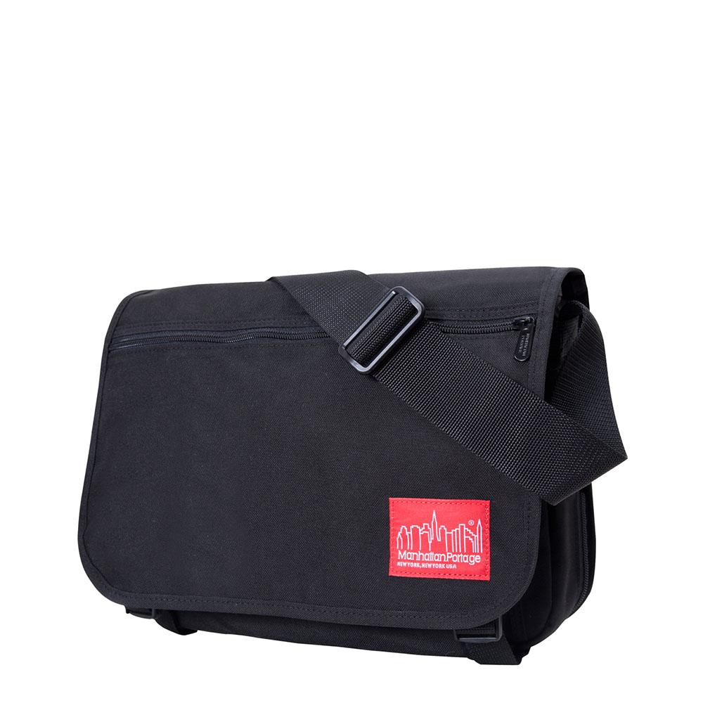 1439 可擴充式雙壓扣肩背包(M) 黑