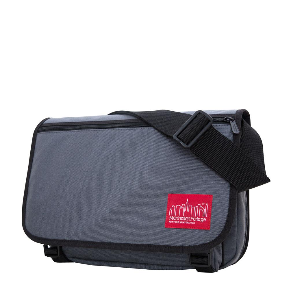 1439 可擴充式雙壓扣肩背包(M) 灰