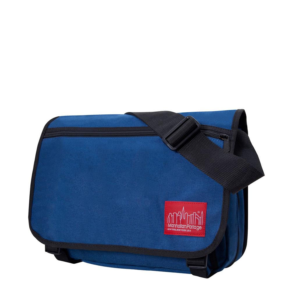 1439 可擴充式雙壓扣肩背包(M) 藍