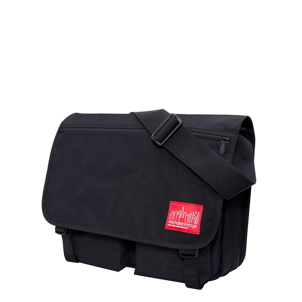 1440 可擴充式雙口袋肩背包(L) 黑