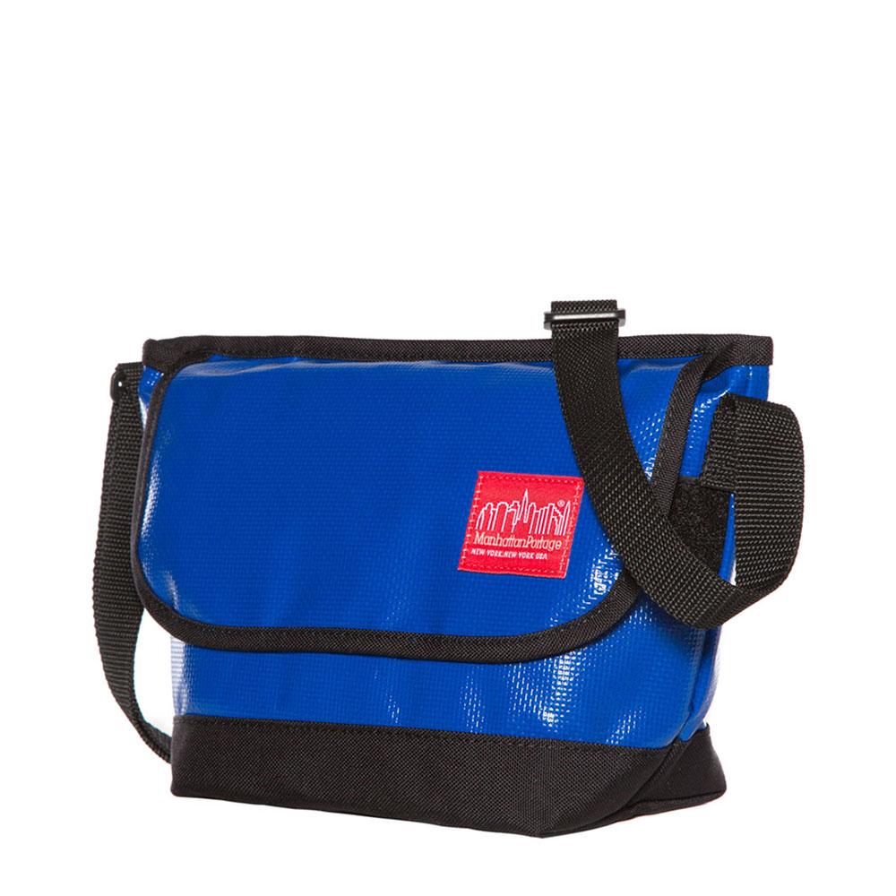 1603 VINYL MESSENGER BAG 二代亮面防水郵差包(MINI) 藍