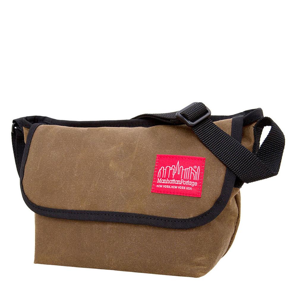 1603 WAXED MINI NY MESSENGER BAG 蠟帆布紐約郵差包(MINI) 褐色