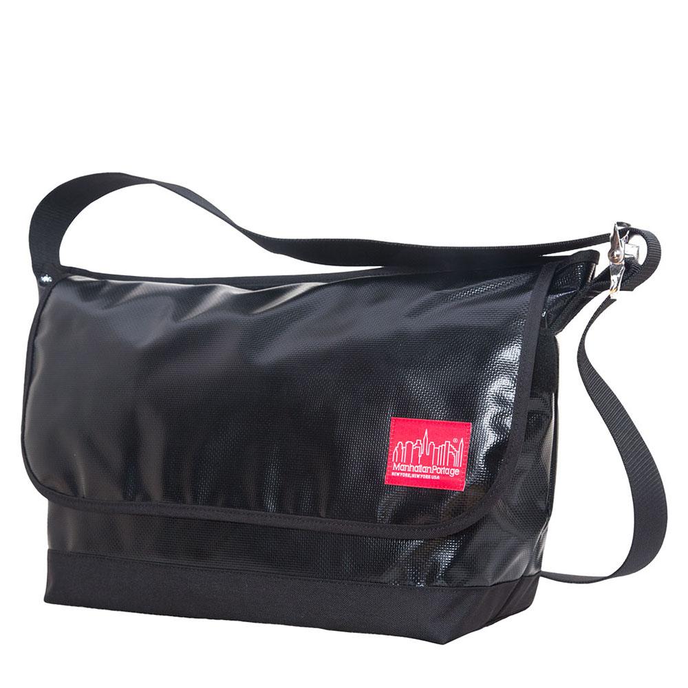 1607 VINYL VINTAGE MESSENGER BAG(LG) 二代亮面防水復古郵差包 黑
