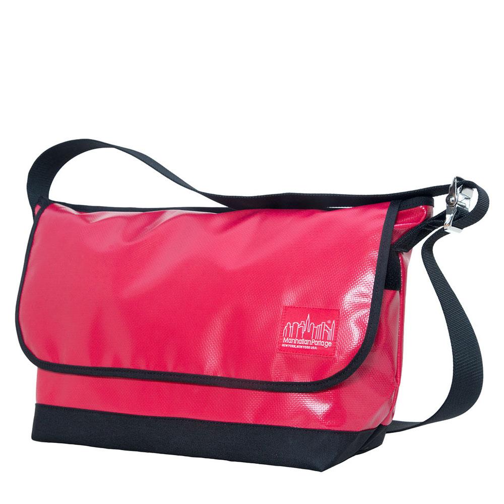 1607 VINYL VINTAGE MESSENGER BAG(LG) 二代亮面防水復古郵差包 紅
