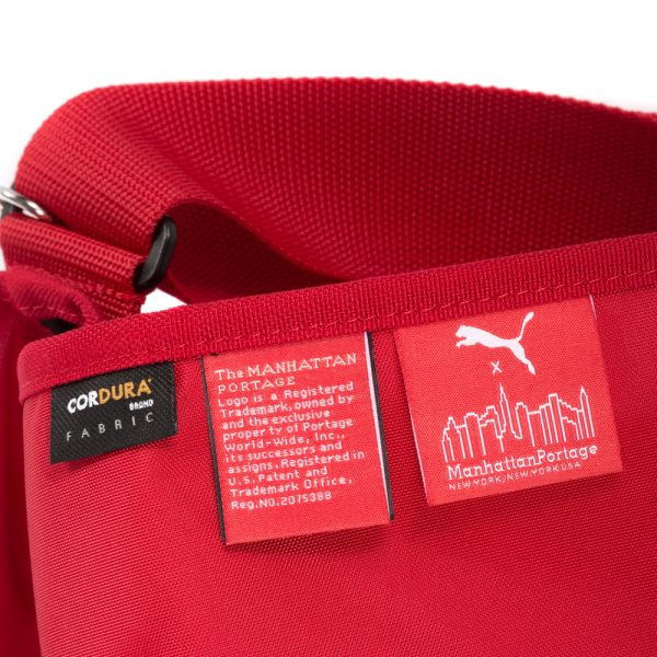 1646-RED PUMA 通勤郵差包(M) 紅