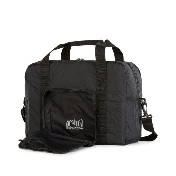 1804 可摺疊式三層旅行袋 黑