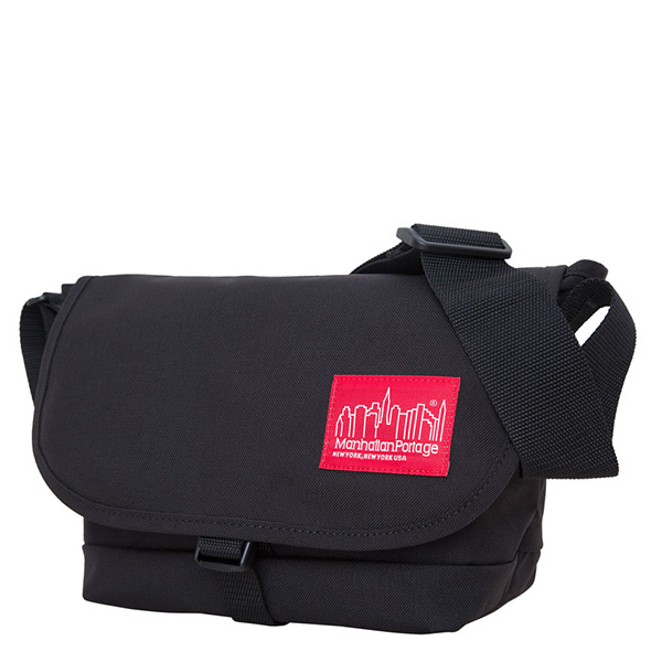 1645 STRAPHANGER MESSENGER BAG (SM) 單扣郵差包 黑