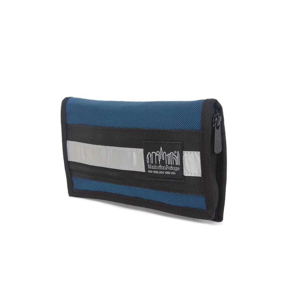 1078 BL 反光條護照包 藍
